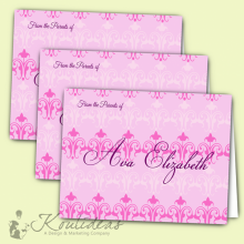 girl-folded-pink-and-grey-notecard-personalized-stationary-trio
